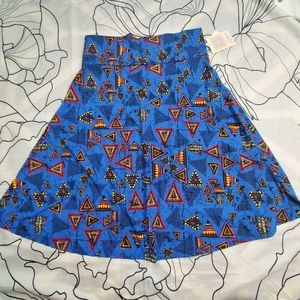 4/$25 LULAROE Azure Skirt A-Line Knee Length 2XL